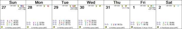 2016 W01 Calendar (Weekly)
