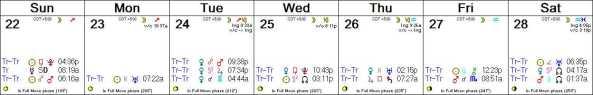 2016 W22 Calendar (Weekly)