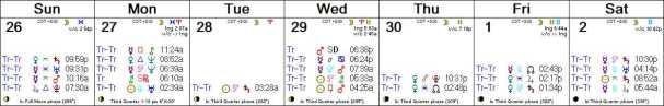 2016 W27 Calendar (Weekly)