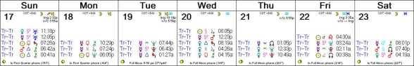 2016 W30 Calendar (Weekly)