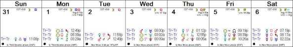 2016 W32 Calendar (Weekly)