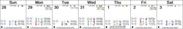 2016 W36 Calendar (Weekly)
