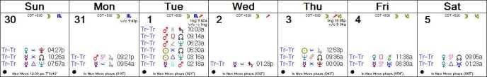 2016 W45 Calendar (Weekly)