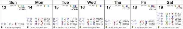 2016 W12 Calendar (Weekly)