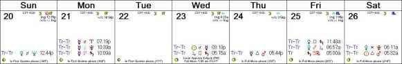 2016 W13 Calendar (Weekly)